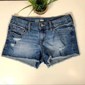Old Navy Distressed Semi Fitted Shorts Size 0